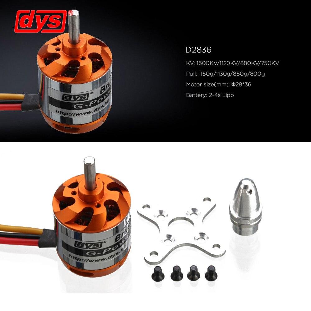 DYS D2836 880KV Brushless Motor 2-4S Outrunner Motor for RC Models FPV Multirotor Quadcopter