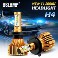 Oslamp CREE XHP50 Chips H4 6500K 2x LED Car Headlight Kits Fuchsia Auto SUV Led Head