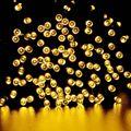 100 LED Blanco Cálido Al Aire Libre Lámparas Solares LED Luces de Hadas de Vacaciones Fiesta de Navidad Guirnaldas Solar Luces de Jardín A Prueba de agua