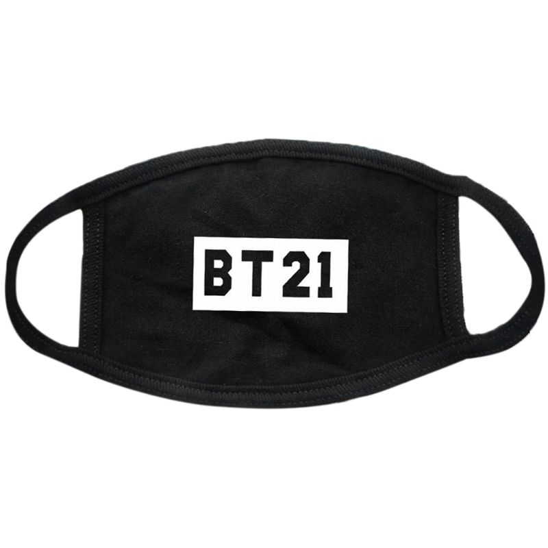 1Pc Unisex Cotton Half Face Mouth Mask Three Layer Kpop Blackpink EXO Fans Supportive Letters Printed Muffle Respirator Hip