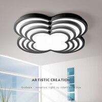 Diameter 420 510 600 800mm White Or Black Finish Led Ceiling Lights Modern Led Ceiling Lamp