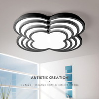 Diameter 420 510 600 800mm White Or Black Finish Led Ceiling Lights Modern Led Ceiling Lamp