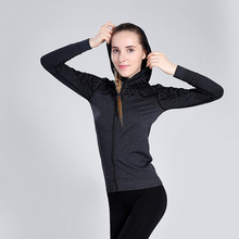 Women Autumn Winter Sports Jacket Sweater Breathable Quick Dry Sport Shirt Elastic Yoga Running Tops Jogging Gym Natural Soft
