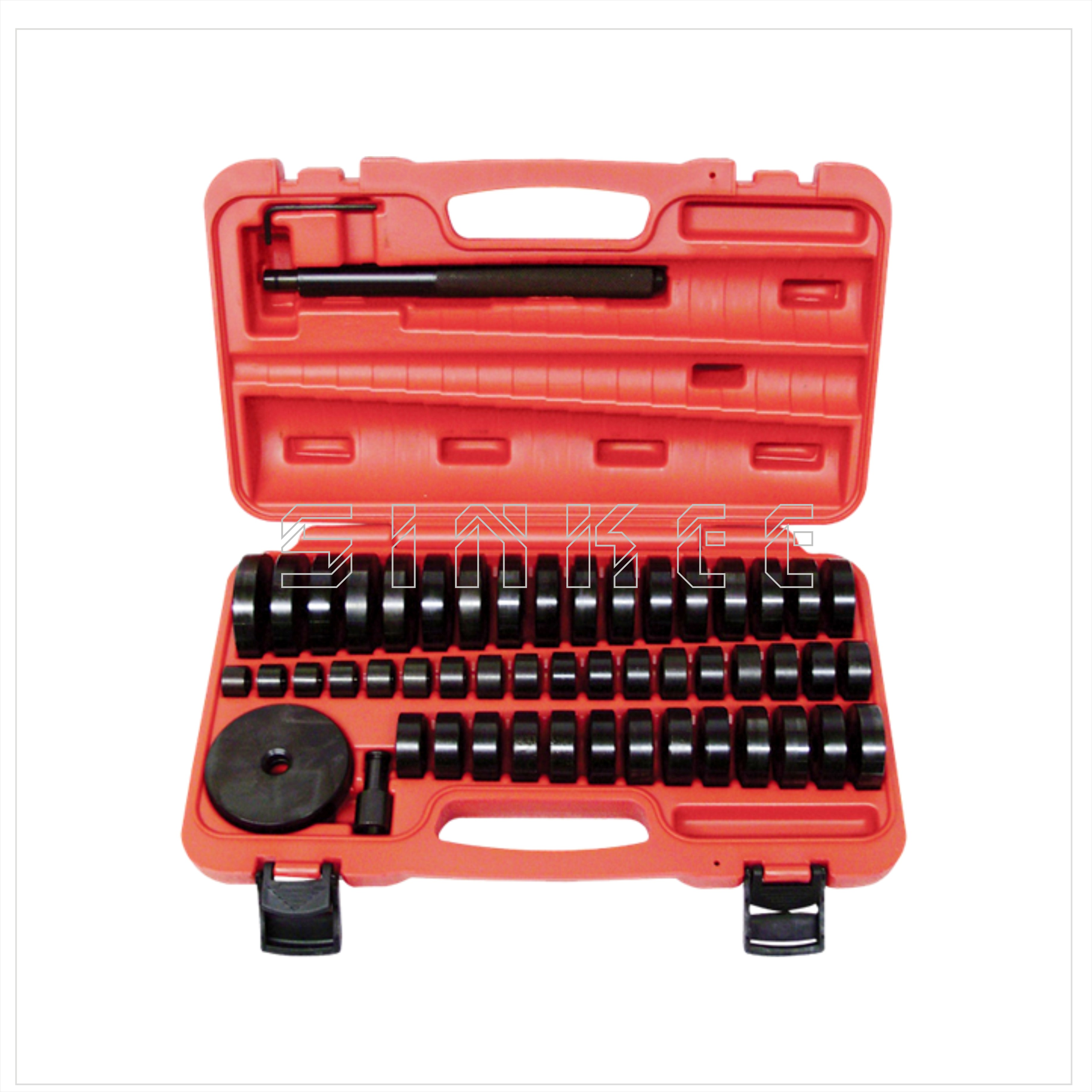 51pc Custom Bushing Bearing Seal Driver Push Press Disc Tool Set 18-65mm SK1428 10pc bearing race seal driver tool master set with storage case wheel axle new