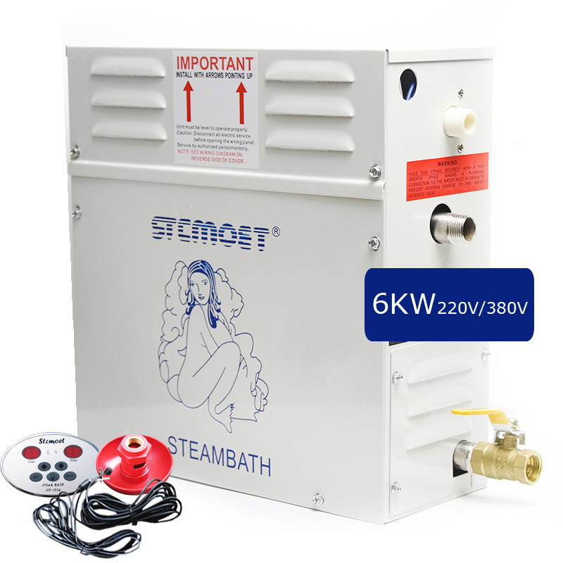 sauna machine steam bath generator 6 KW 220V 380V Home or commerce controller weight loss spa