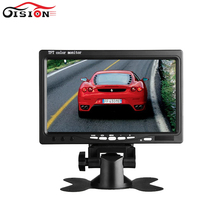 7 Inch HD Color TFT LCD Screen Rear View Camera Monitor 2channel Video Input Car Reverse DVD VCD Player Monitor