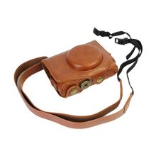 Premium PU Leather Protective Bag Lanyard Camera Case for Canon PowerShot SX720 HS SX 700 Accessories