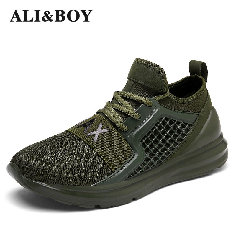 0ab49fc3 Breathable Running Shoes For Man Black White Sport Shoes Men Sneakers  Zapatos Corrientes De Verano Red