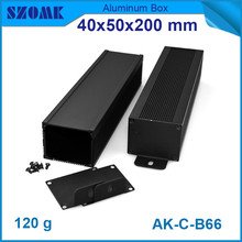 10pcs/lot black anodizing and powder coating aluminum instrument cabinet for electronics 40*50*200mm