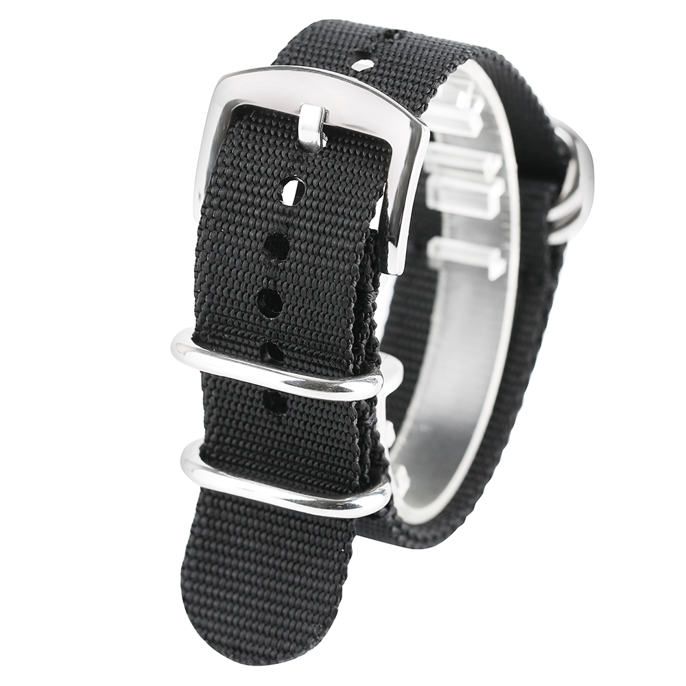 High Quality 20mm/22mm/24mm Replacement Watch Band Black/Army Green Nylon Watch Strap Band for Outdoor Sport Watch high quality 20 22 24mm military nylon army green soft belt bracelet replacement pin buckle sport outdoor watch strap band