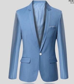 Новое поступление топ костюм для мужчин осенний мужской повседневный Блейзер корейский тонкий пиджак мужской блейзер 6 цветов S-6XL 030602 - Цвет: 6