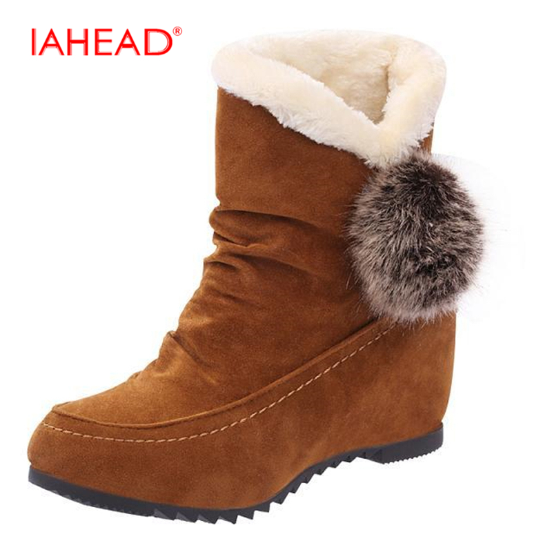 IAHEAD shoes woman Winter boots women Brand New Snow Boot rubber boots women Ankle bottine femme botas mujer UPC290 brand women boots thicken warm winter ladies snow boot women shoes woman fur ankle boots chaussure femme botas mujer 2017 svt905