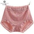Bragas de encaje de las mujeres rosa negro xxl 3xl 4xl bordado briefs underwear k086