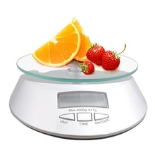 Kitchen Scale High-precision sensors glass surface 1g x 5KG 5KG / 1g  5000g* 1g electronic kitchen food scale Measuring Tool