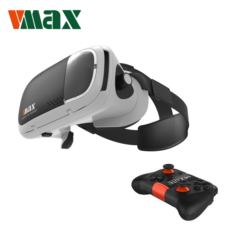 "RITECH VMAX 3D VR Glasses Virtual Reality Glasses with Bluetooth Games Controller VR Headset for 4.7-6.0 "" Smartphones 3D Movies"