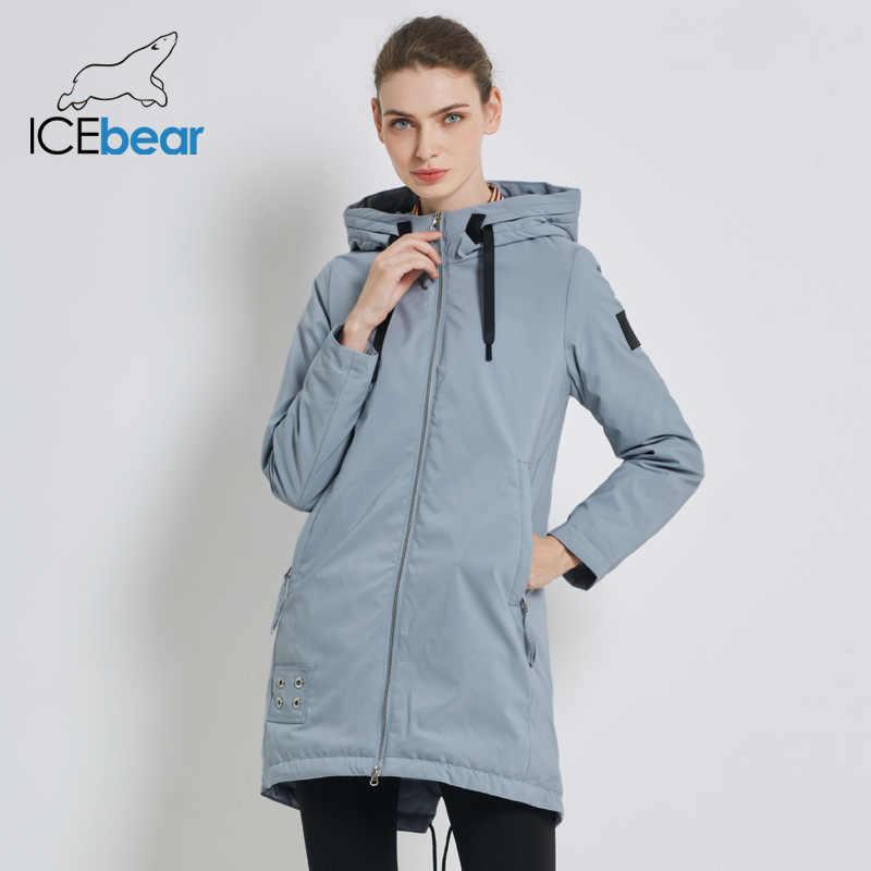 ICEbear 2019 고품질의 새로운 여성의 가을 코트 패션 여성 코트 후드 여성 의류 여성 브랜드 재킷 GWC19028I