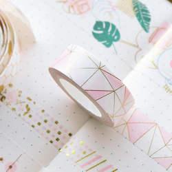 Золотой Розовый Фольга Бумага Васи набор японский Скрапбукинг декоративные ленты соты для Фотоальбом украшение дома