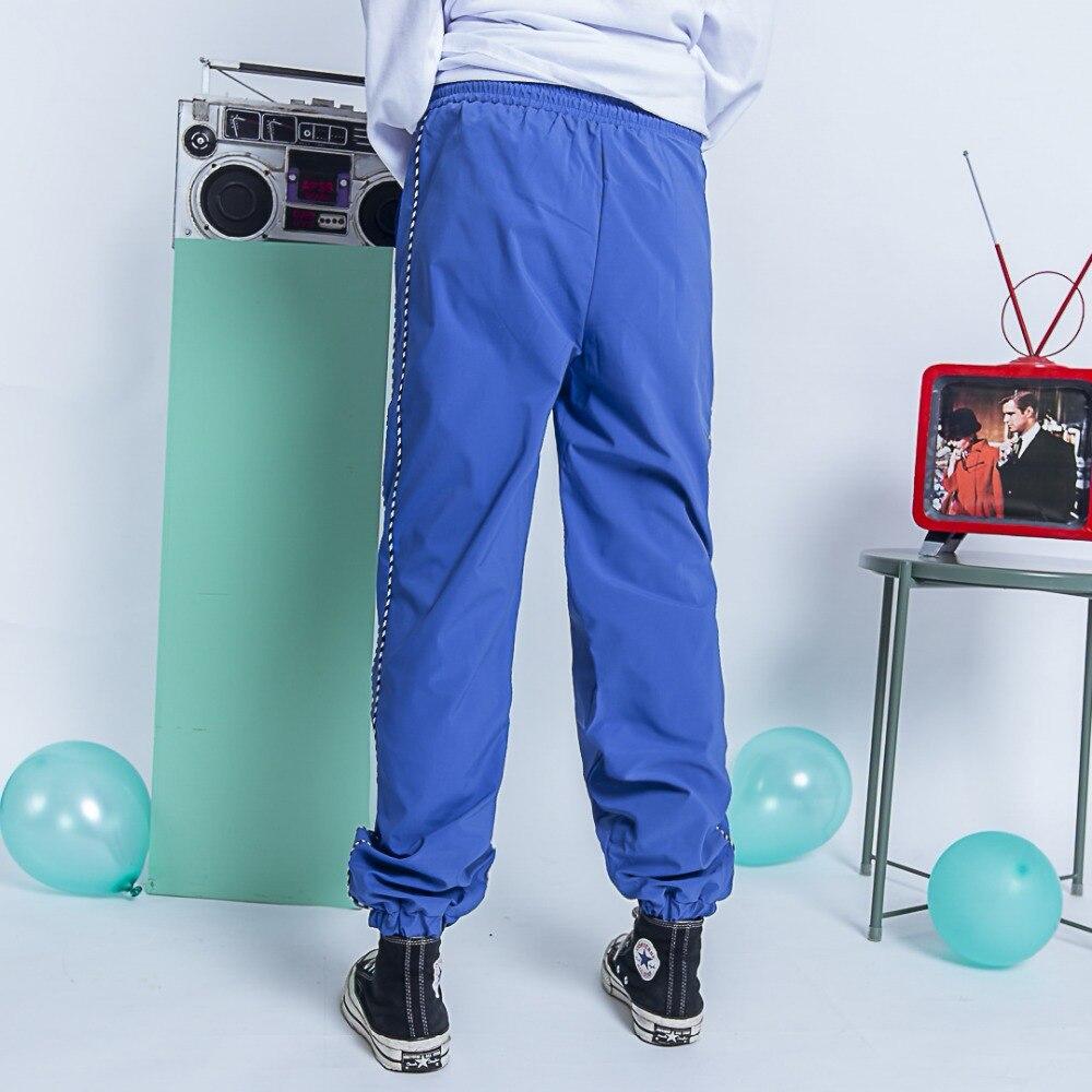 Marée Pantalon Nouveau Noir 2019 Rayures Side Marque Montage Pantalon blanc Rue Haren Lâche bleu Style Automne Original OYxAq46