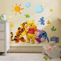 Calcomanías de pared Winnie the Pooh friends para habitaciones de niños pegatina decorativa adesivo de parede extraíble de pvc