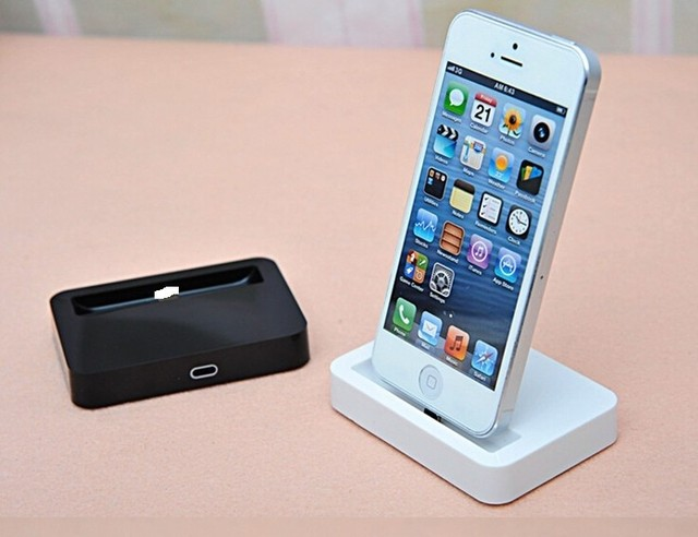 buy for iphone 6 charger docking station cradle charging sync dock for apple. Black Bedroom Furniture Sets. Home Design Ideas