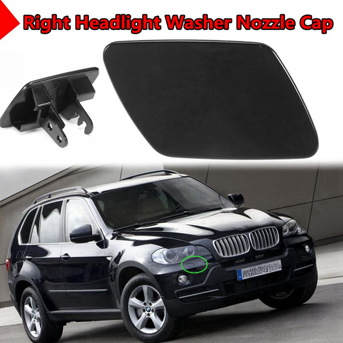 Us 6 84 7 Off 51657199142 Right Side Front Headlight Washer Nozzle Cover Cap For Bmw X5 E70 07 11 Car Replacement In Windscreen Wiper Blow Can