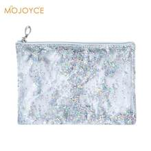 Fashionable Transparent Clutch Bag for Women Simple Handbags for Girl Clear PVC Handbag Sequins Totes Mini Clutch Pouch 2018 New(China)
