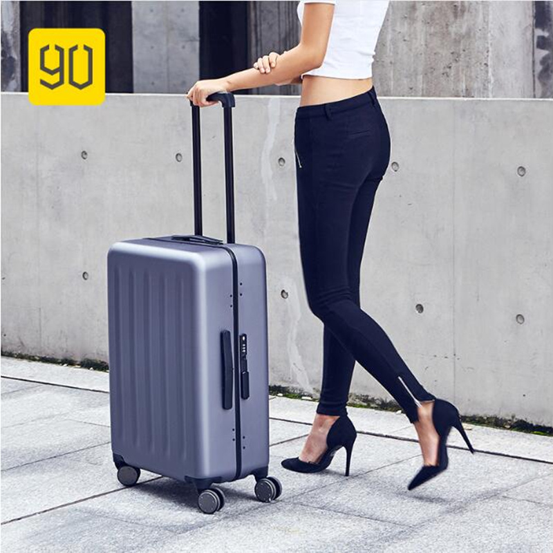 Xiaomi 90FUN Lightweight Rolling Luggage Aluminum Frame PC Carry On Luggage with Spinner ...