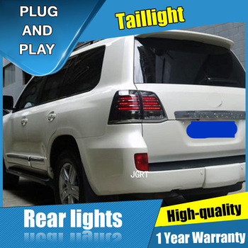 4PCS Car Styling for Toyota Land Cruise Taillights 2008-2015  for Cruise LED Tail Lamp+Turn Signal+Brake+Reverse LED light