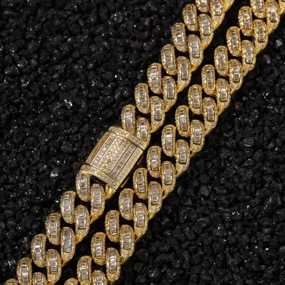 Image 2 - THE BLING KING Luxury Iced Cubic Zirconia Miami Cuban Link Chain  Necklaces Hiphop Sqaure CZ Fashion Top Quality Jewelry ChainsChain  Necklaces