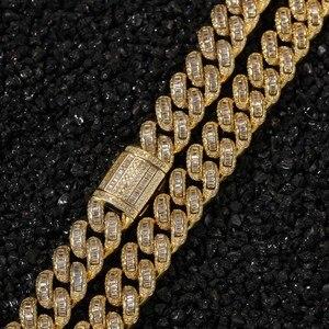 Image 2 - THE BLING KING collares de cadena de eslabones cubanos de Zirconia cúbica, joyería de calidad superior
