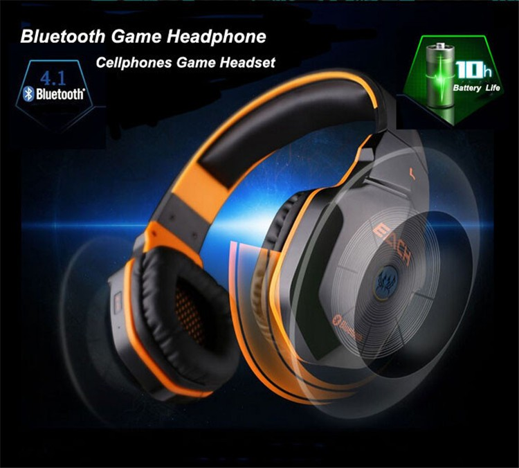 Wireless Bluetooth Stereo Gaming Headphones Headset EACH B3505 With Volume Control Microphone HiFi Build-in NFC Function (1)