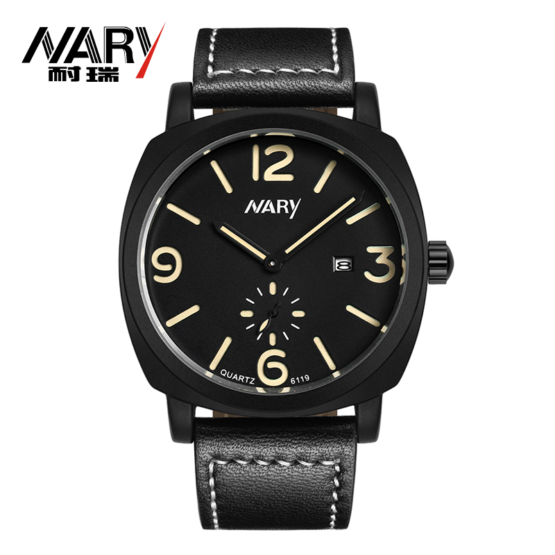 Nary Fashion Watch Sport Brand Quartz Strap Extreme Outdoor Noctilucous Men Relogio Masculino