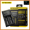 Original Nitecore D2 LCD Display 18650 Battery Charger Universal for 16340 26650 AA AAA Li-ion Rechargeable Batteries Charging