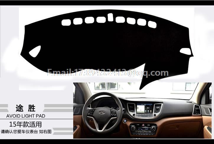 for hyundai ix35 tuscon 2015 2016 2017 dashmats car-styling accessories dashboard cover ...