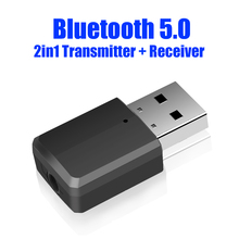 Mini Bluetooth 5.0 Adapter Bluetooth Transmitter Receiver 3.5mm Stereo Audio Sound Music Dongle For PC TV Speakers Headphones