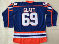 Viva Villa Stitched Hockey Jersey Doug The Thug Glatt Halifax Highlanders 69 Movie Blue Ice Hockey