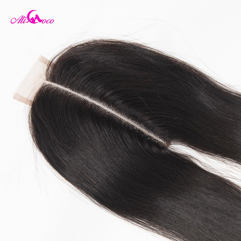 Image 5 - Ali Coco Brazilian Straight 2*6 Lace Closure Human Hair Lace Closure  Middle Part 8 20 Inch Natural Color Remy Hair-in Closures from Hair Extensions & Wigs
