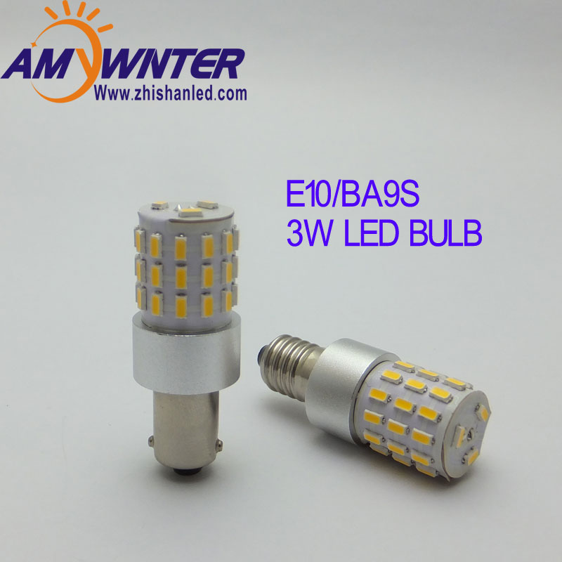 AMYWNTER Car ba9s led 24v lampor för t4w ba9s led canbus 3W power Interiörlampor Läslampa Car Light Sourse