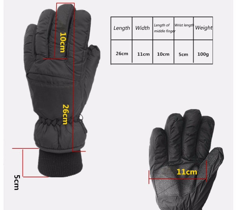 2017 Top Quality New Brand Men's Ski Gloves Snowboard Snowmobile Motorcycle Riding Winter Gloves Windproof Waterproof Snow Glove 1