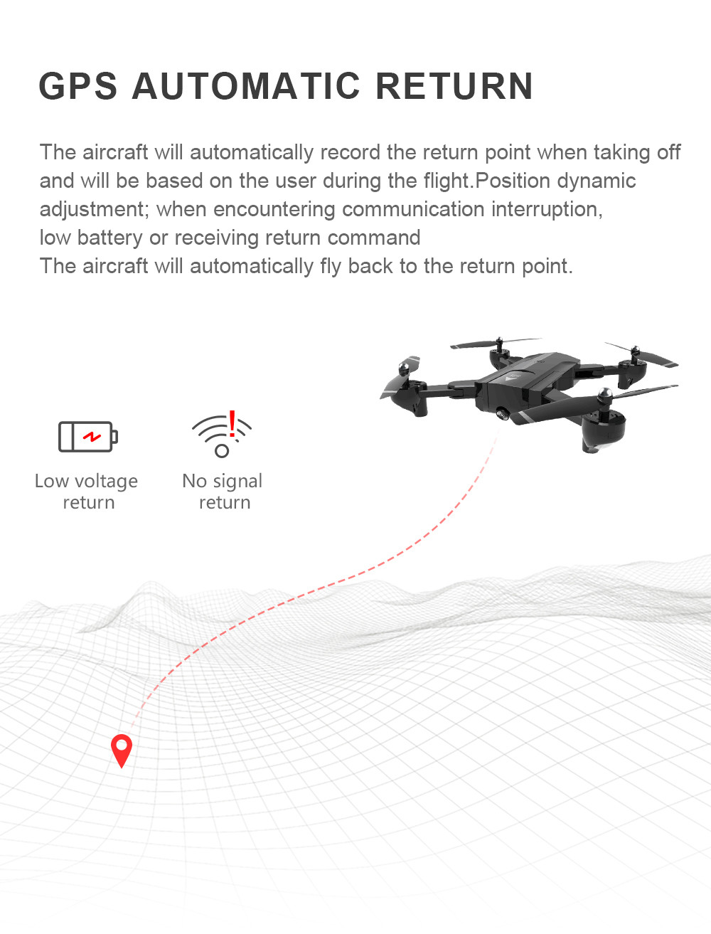 Global Drone Foldable GPS Follow Drone with Camera Full HD RC Quadcopter Profissional FPV Drones Quadrocopter VS VISUO XS812 17