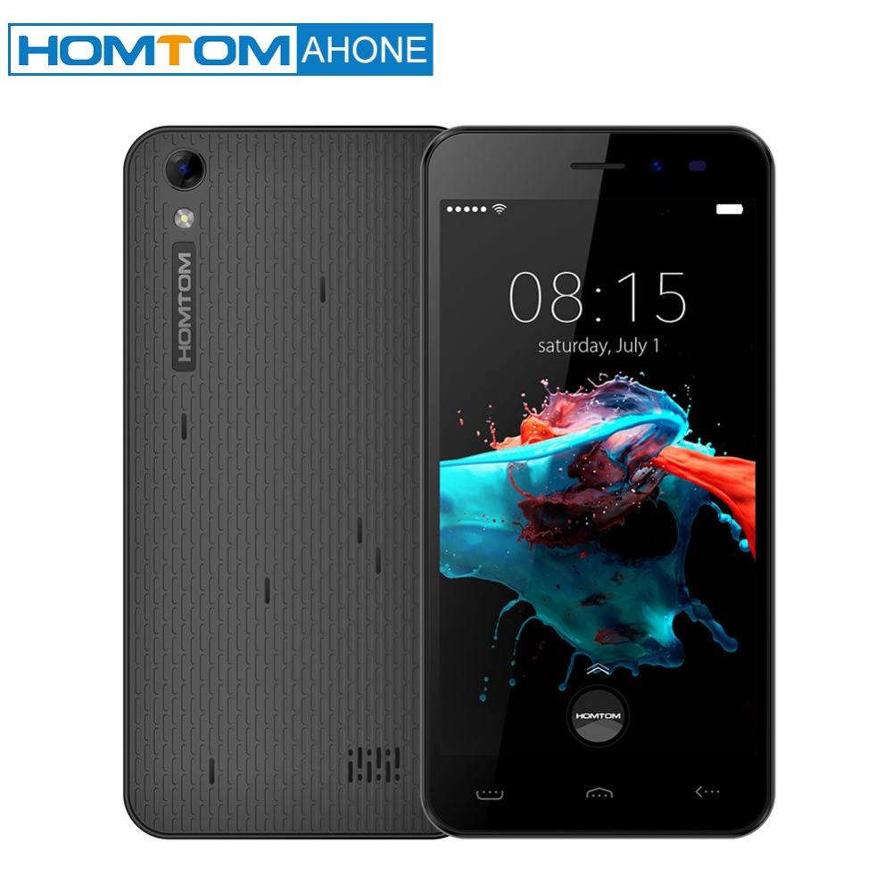"HOMTOM HT16 Smartphone 3G WCDMA Android 6.0 Quad Core MTK6580 5.0"" Screen 1GB RAM 8GB ROM Dual Cameras Mobile Phone"