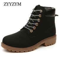 2016 New Arrival Autumn Winter Boots For Women And Man PU Leather Unisex Fashion Men Work