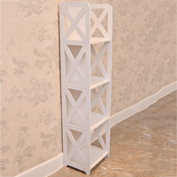 Bathroom and floor type rack without perforation multi storey toilet storage cabinet lo89150