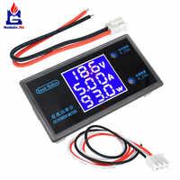 CC 0-50V 0-5A 0-250W 3 LED voltímetro Digital amperímetro de potencia voltaje ajustable corriente comprobador de vatios Detector con Cables