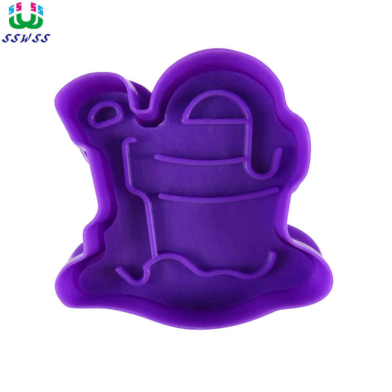 00c3ad874 تنظيف دلو نمط الطباعة قوالب الغذاء الصف البلاستيك كعكة أدوات تزيين القواطع  ، البيع المباشر