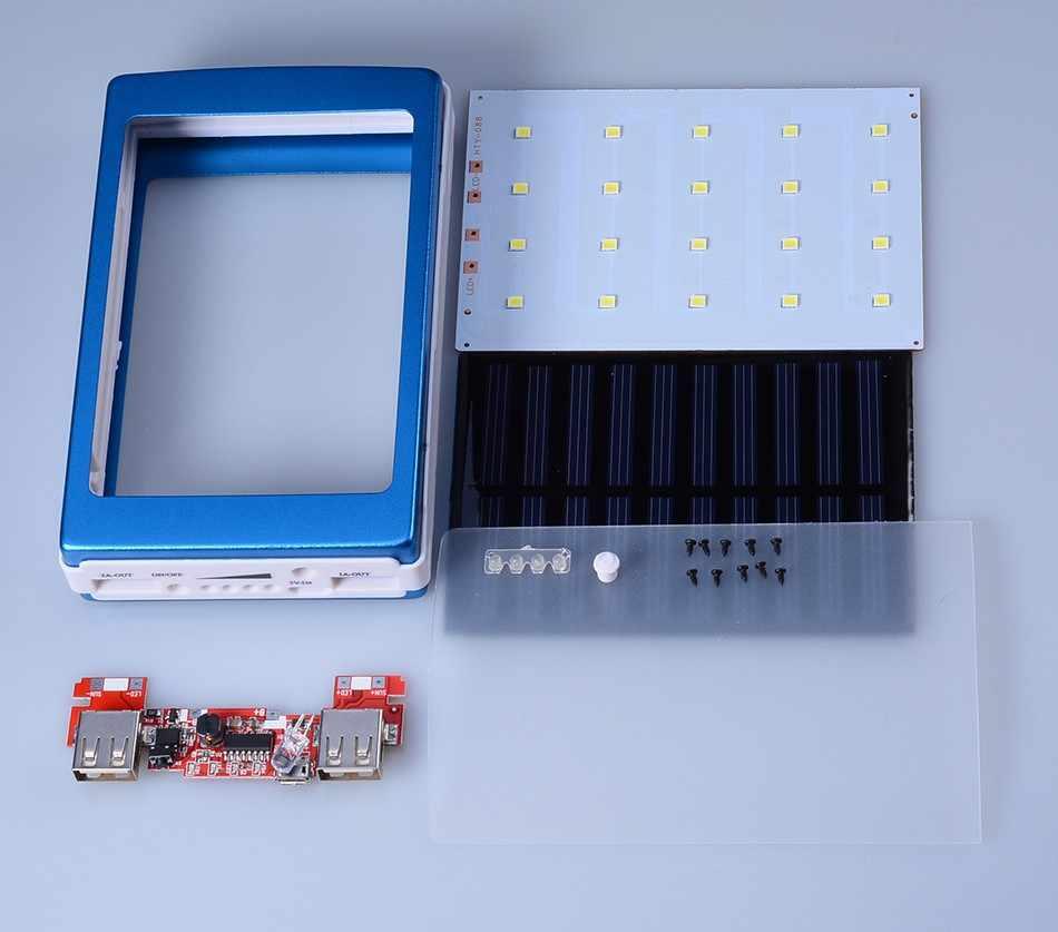 5 فولت PCBA اللوحة العالمي خزان طاقة يعمل بالطاقة الشمسية صندوق لتقوم بها بنفسك المزدوج USB 20 قطعة LED 5x18650 شاحن بطارية محمول يعمل بالطاقة الشمسية لتقوم بها بنفسك عدة (لا بطارية)