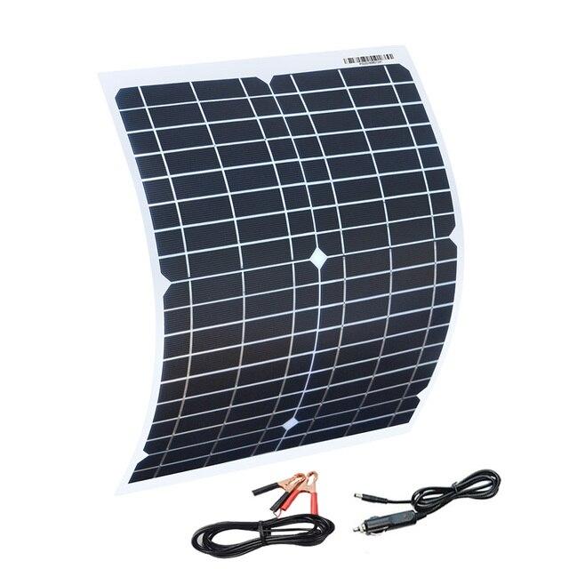 Boguang, panel solar flexible, 20 w, paneles, células solares, módulo de células DC para coche, yate, luz RV, 12 v, barco de batería, cargador al aire libre de 5v