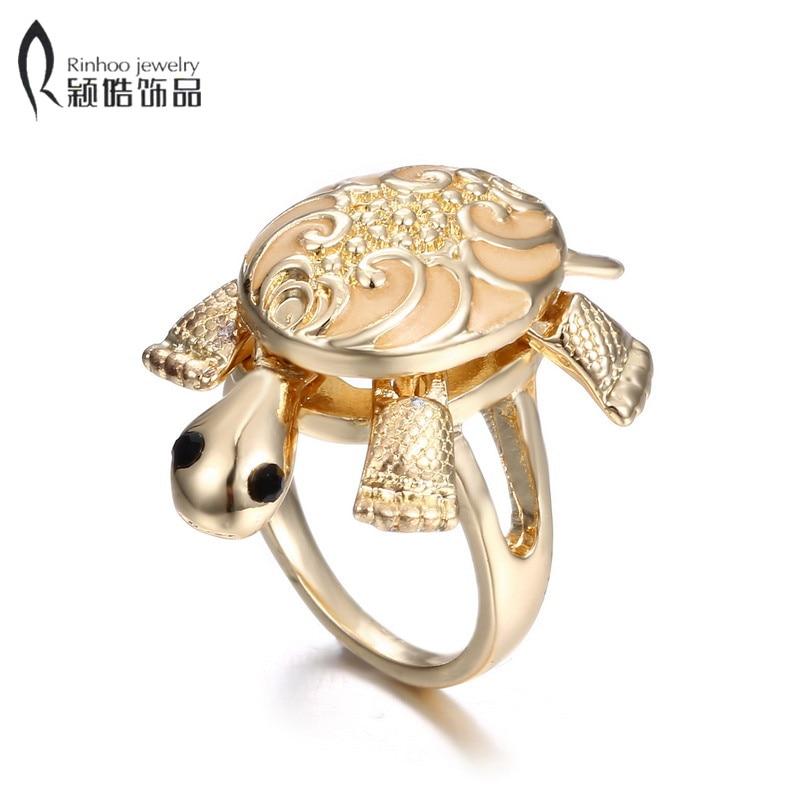 Women Popular Turtles Ring glowing Jewelry Cool Golden Turtles Rings in the dark wedding party  Ювелирное изделие