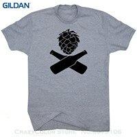 GILDAN Hops Beer T Shirt Craft Beer Bottles Logo Microbrew Home Brew Shirts Ipa Pale Ale