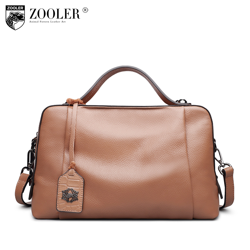 ZOOLER Genuine leather bags for women 2018 designer leather handbags boston Casual shoulder bag classic hot 8119 247 classic leather